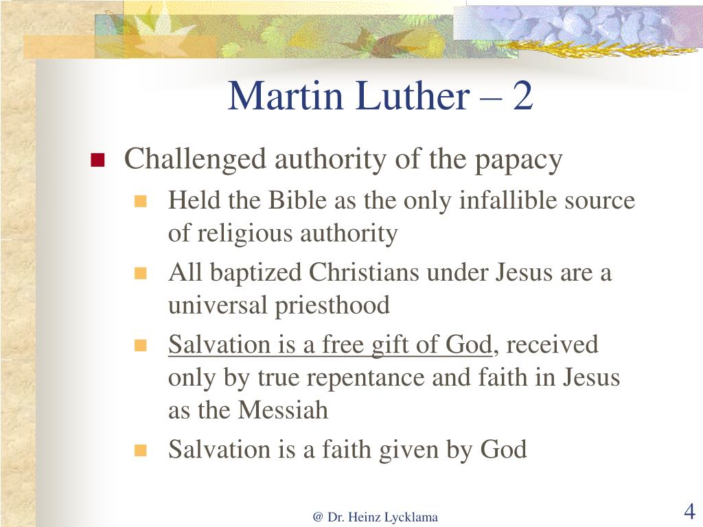 Martin Luther – 2
