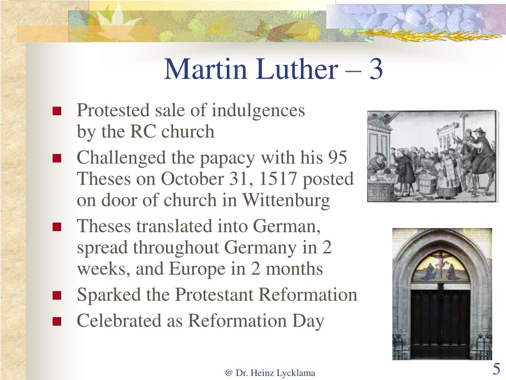 Martin Luther – 3
