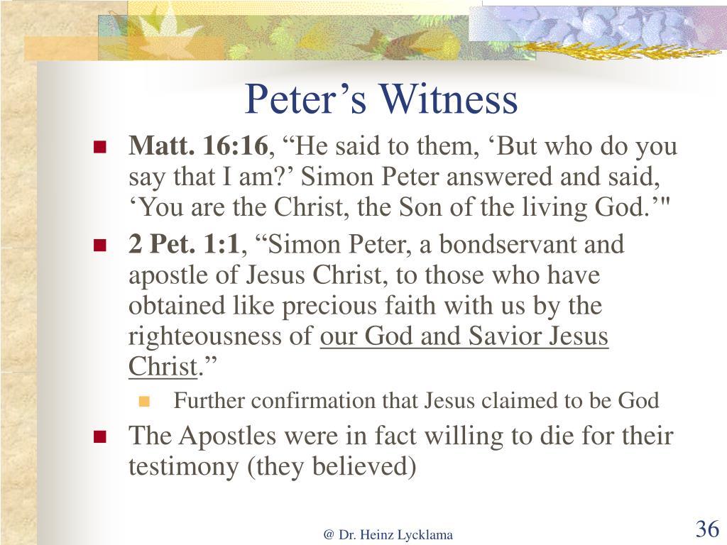 Peter's Witness