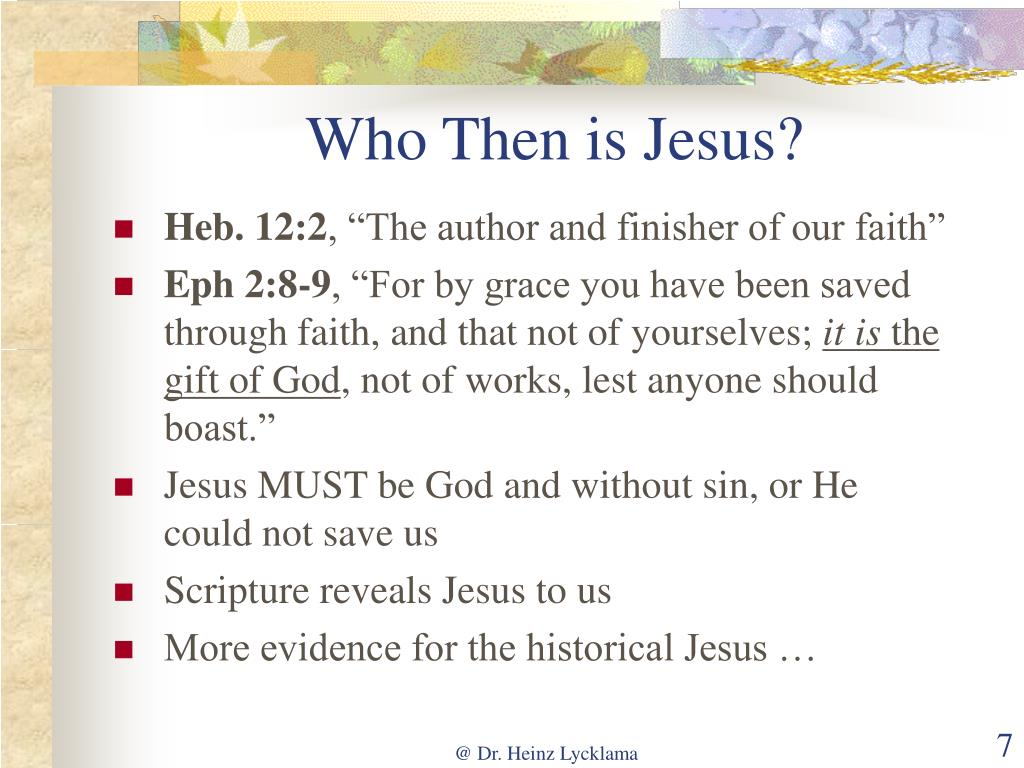 Who Then is Jesus?