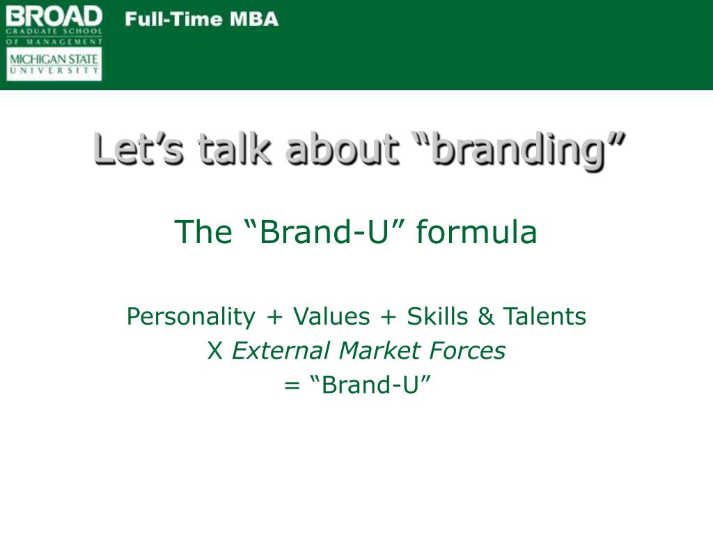 "Let's talk about ""branding"""