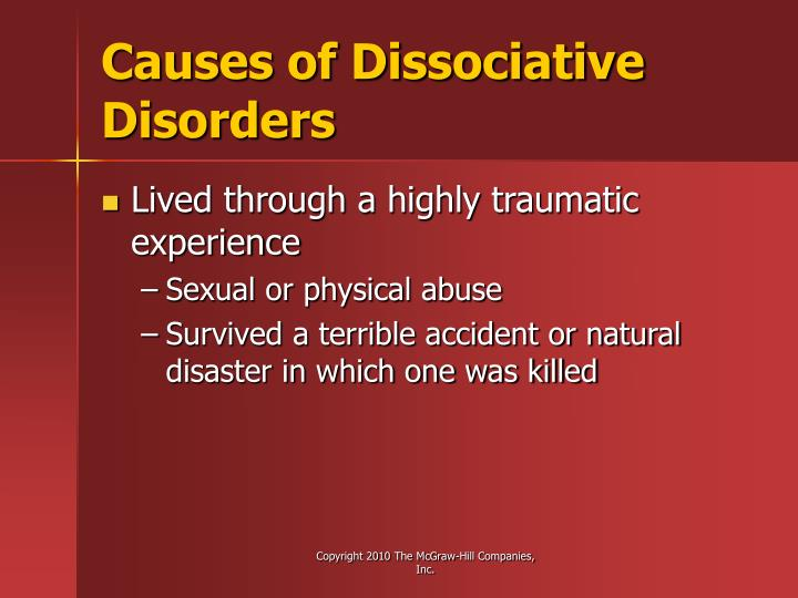 Causes of Dissociative Disorders