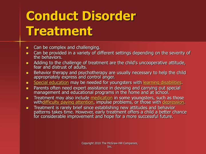 Conduct Disorder Treatment