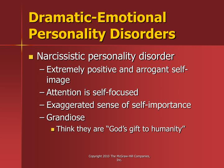 Dramatic-Emotional Personality Disorders