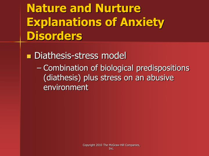 Nature and Nurture Explanations of Anxiety Disorders