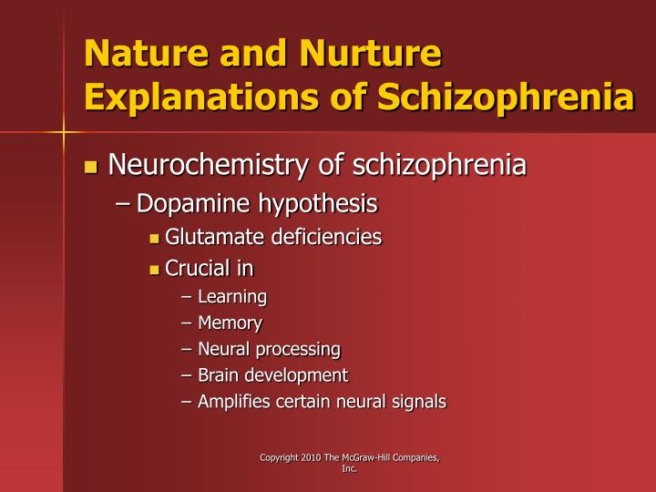 Nature and Nurture Explanations of Schizophrenia