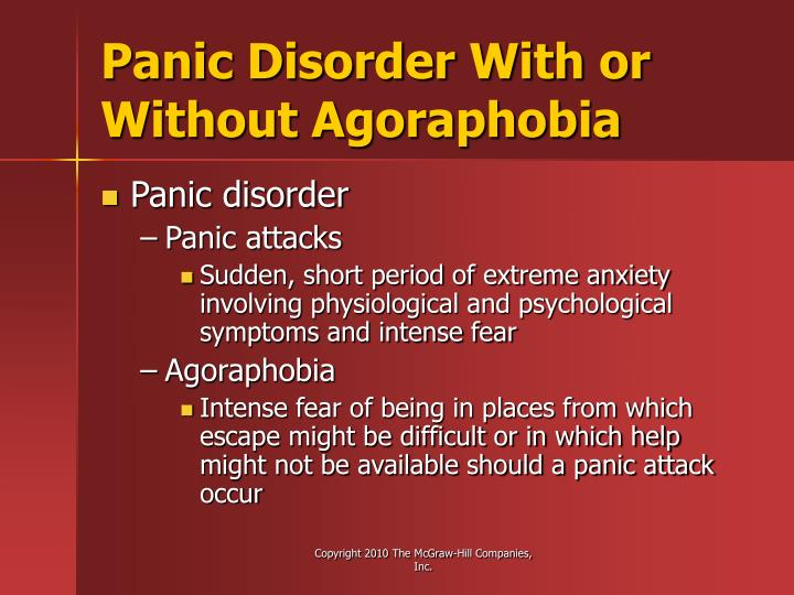 Panic Disorder With or Without Agoraphobia