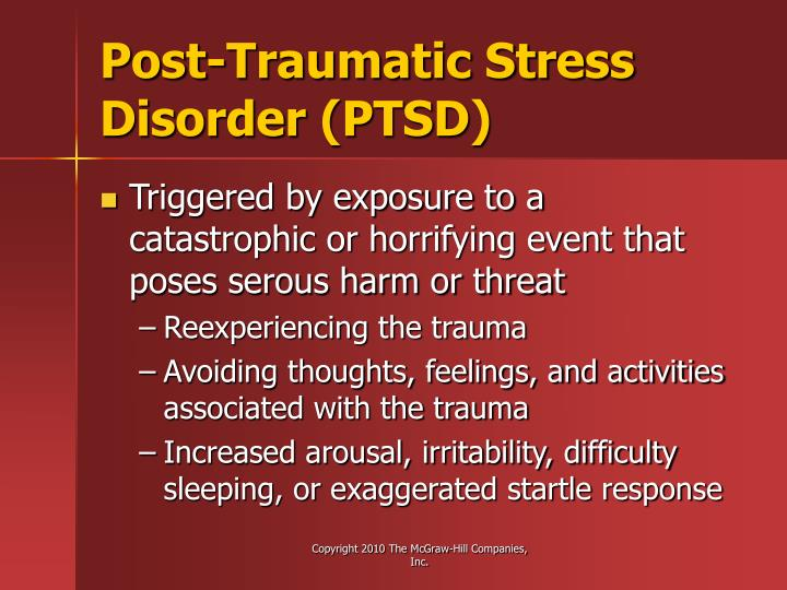 Post-Traumatic Stress Disorder (PTSD)