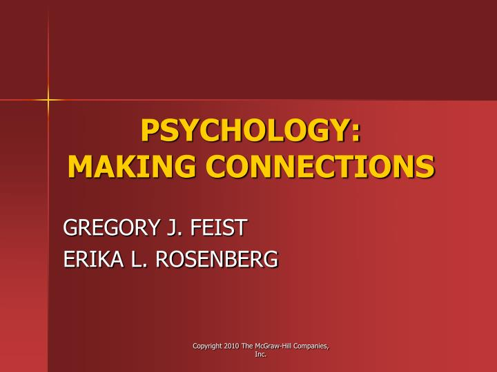 Psychology making connections