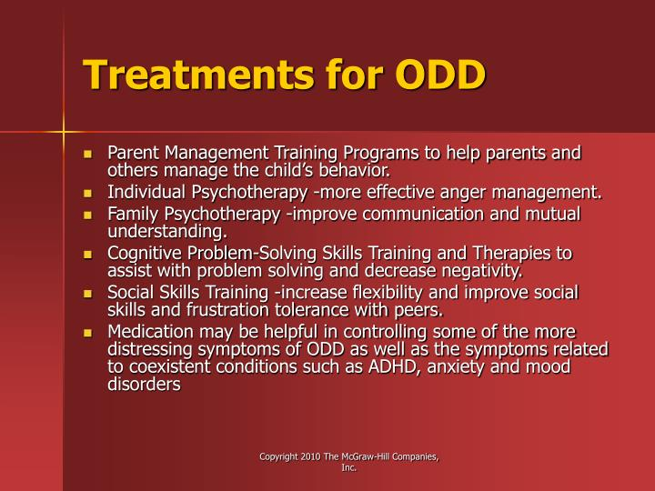 Treatments for ODD