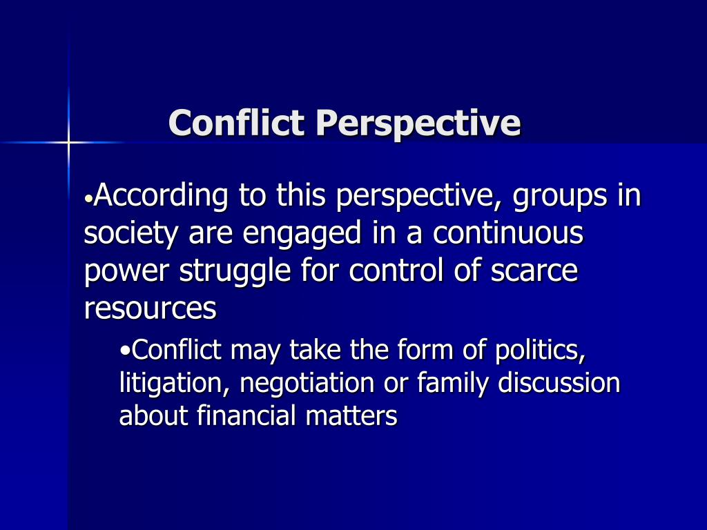 Conflict Perspective