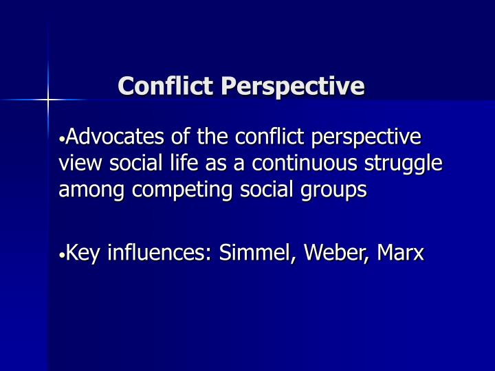 Conflict perspective2