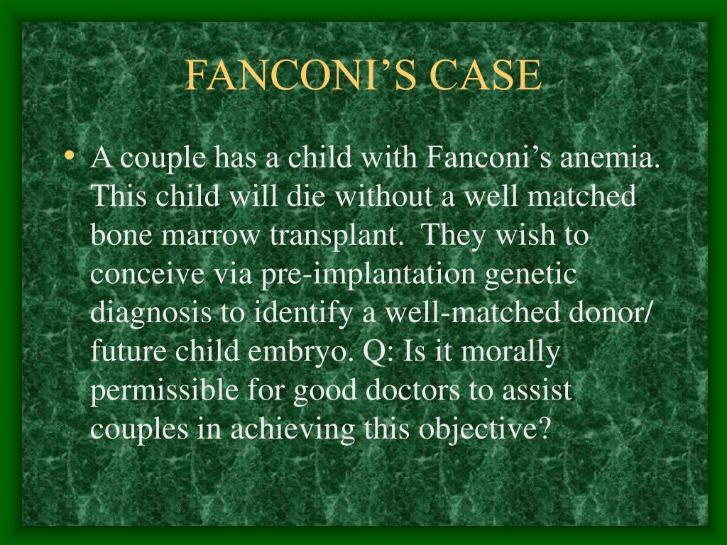 FANCONI'S CASE