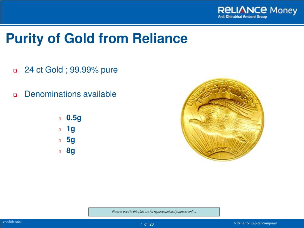 Purity of Gold from Reliance