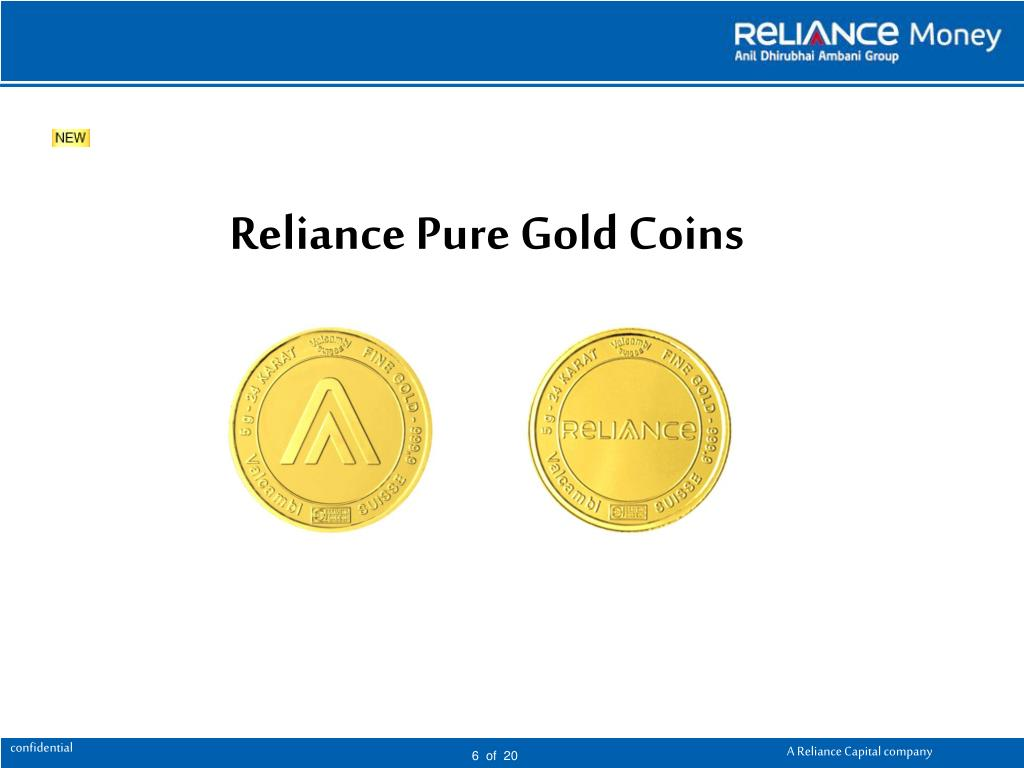 Reliance Pure Gold Coins