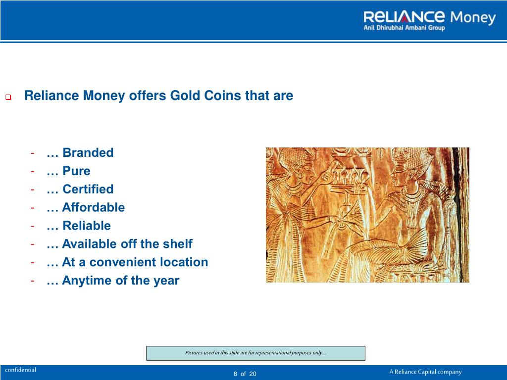 Reliance Money offers Gold Coins that are