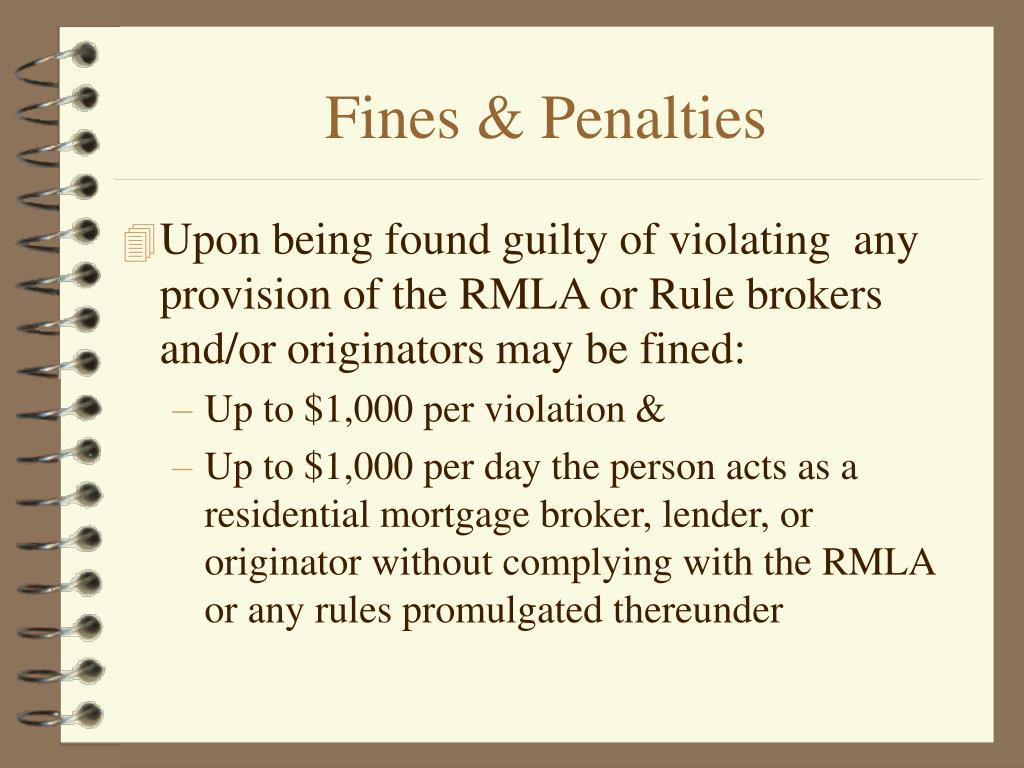Fines & Penalties