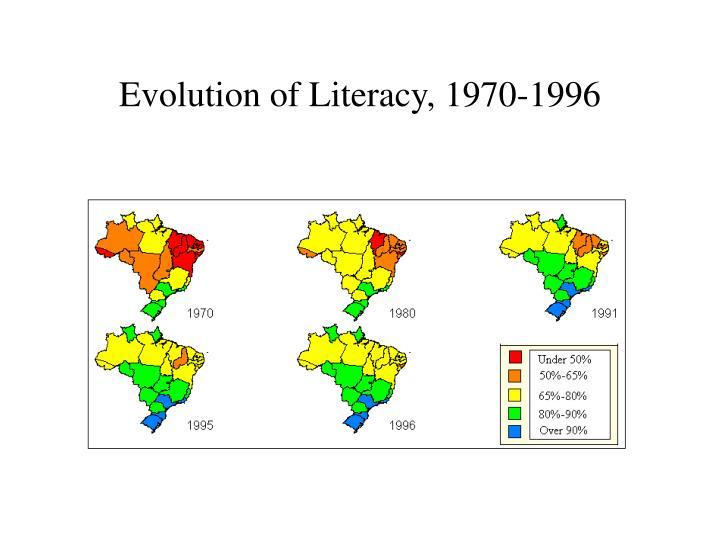 Evolution of Literacy, 1970-1996