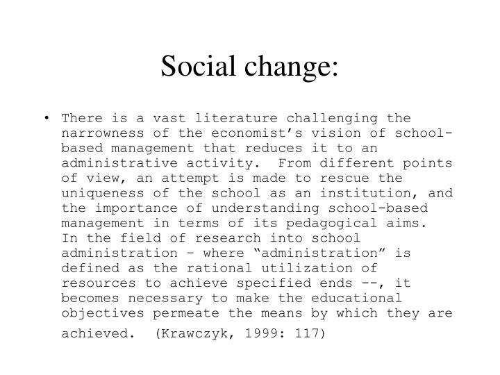 Social change: