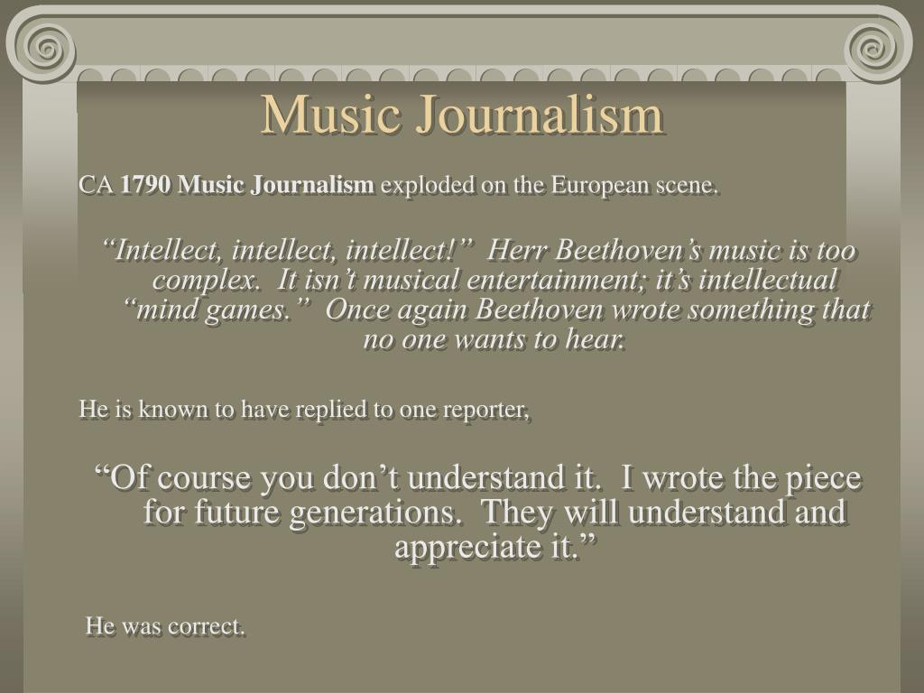 Music Journalism