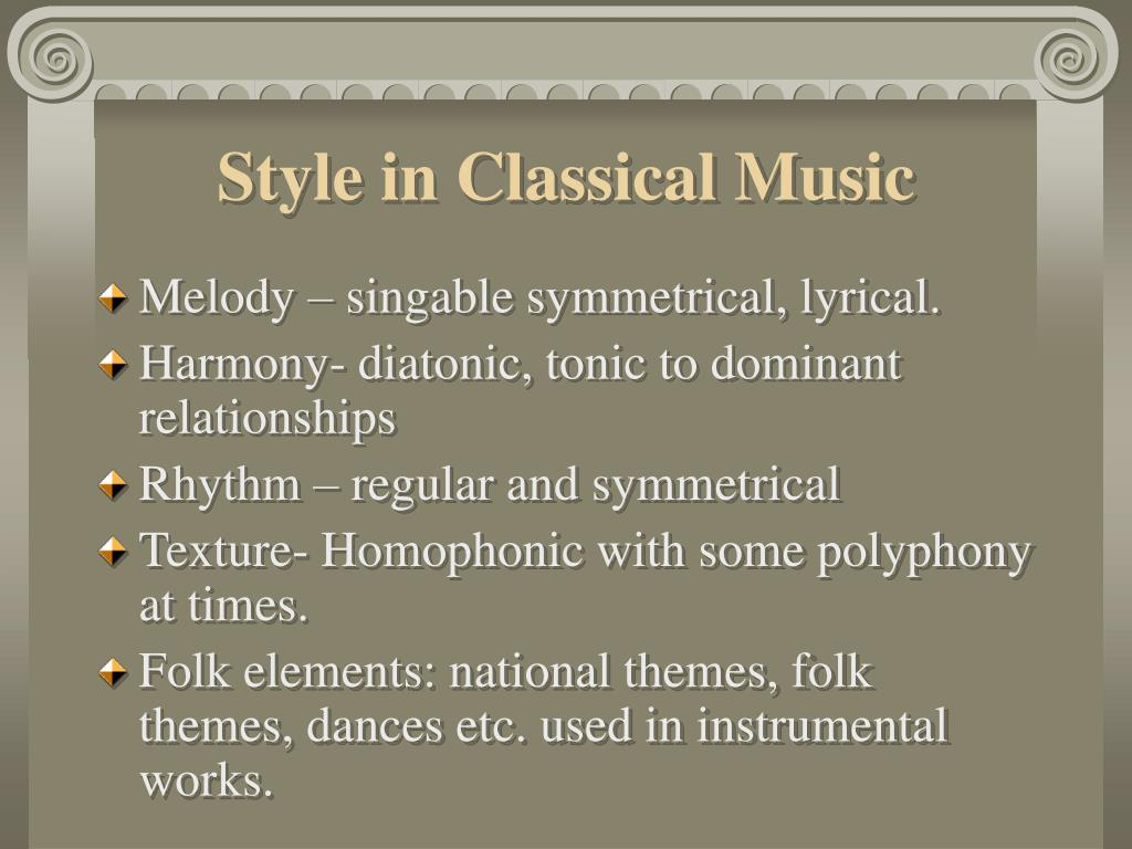 Style in Classical Music