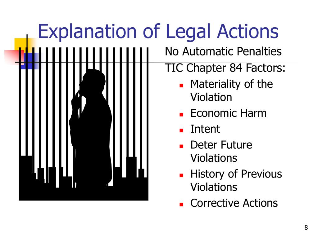 Explanation of Legal Actions