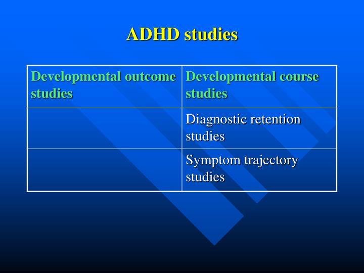 ADHD studies