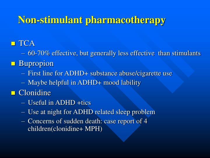 Non-stimulant pharmacotherapy