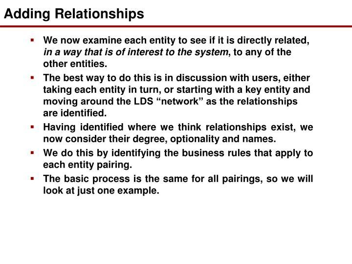 Adding Relationships