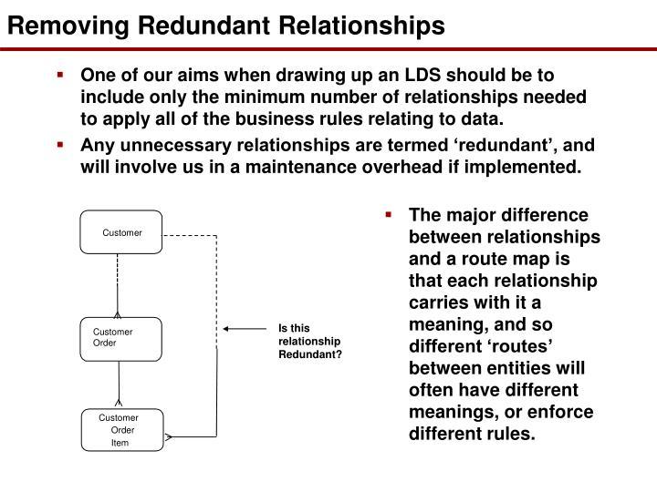 Removing Redundant Relationships