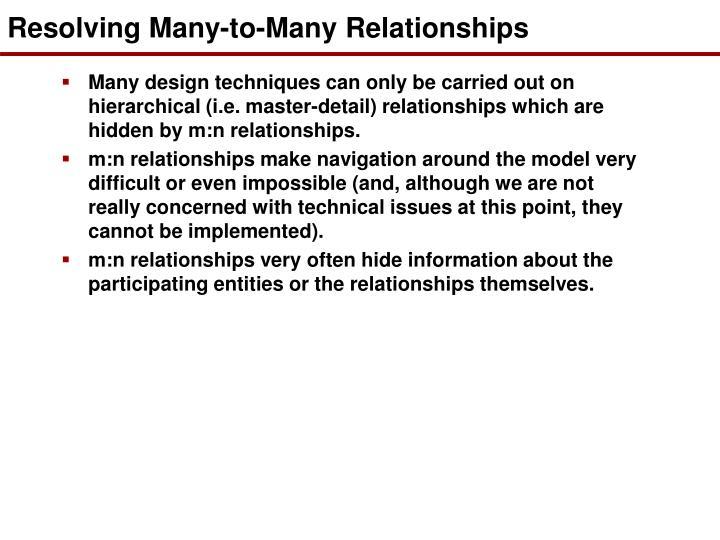 Resolving Many-to-Many Relationships