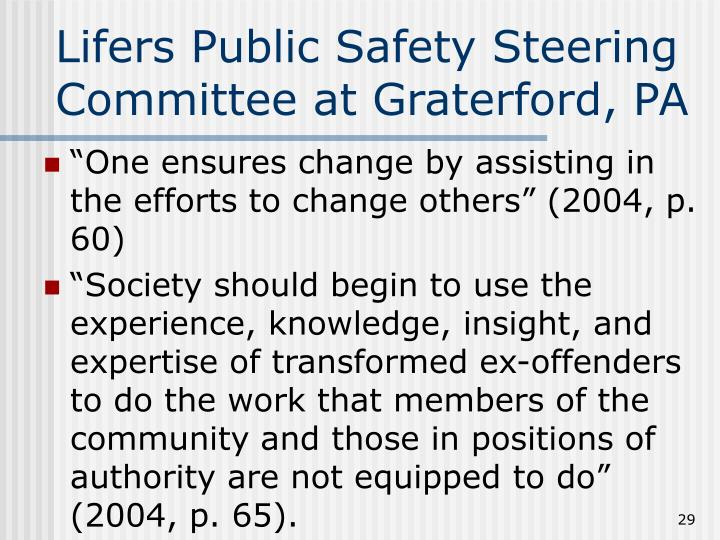 Lifers Public Safety Steering Committee at Graterford, PA