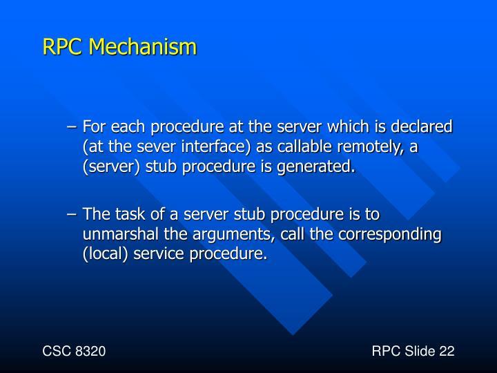 RPC Mechanism