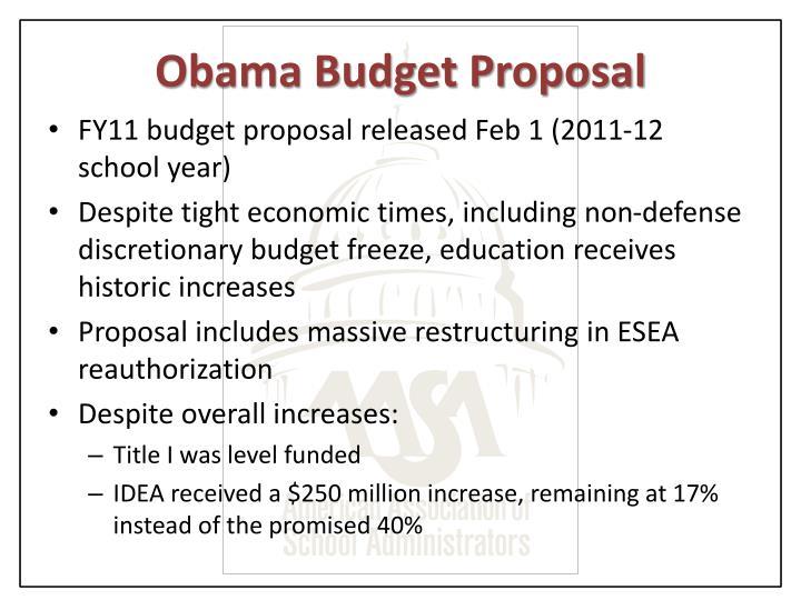 Obama Budget Proposal