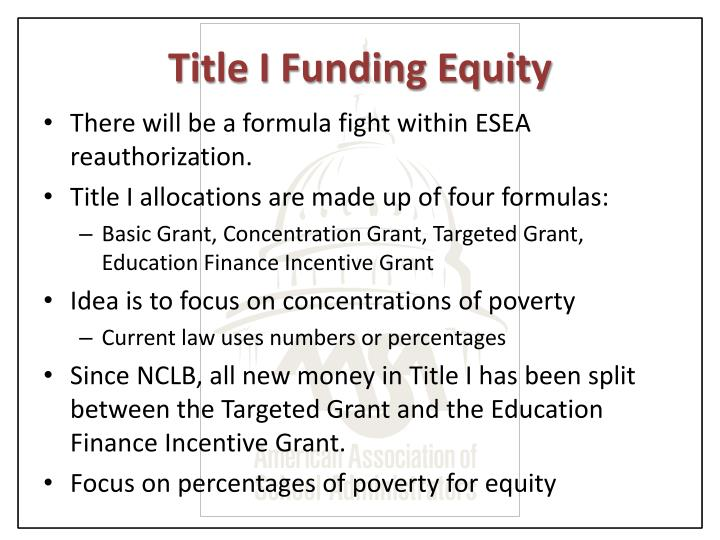 Title I Funding Equity
