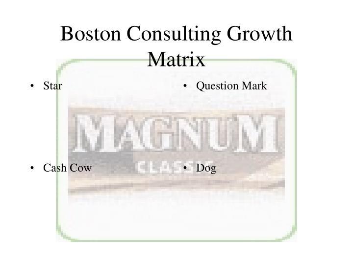 Boston Consulting Growth Matrix