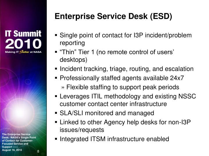 Enterprise Service Desk (ESD)