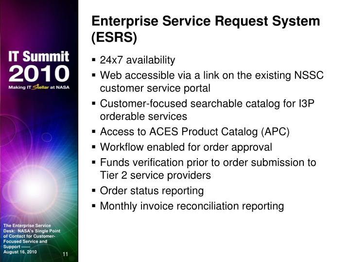 Enterprise Service Request System (ESRS)