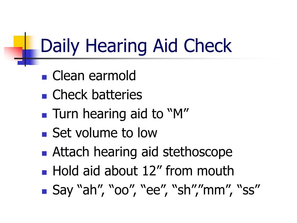 Daily Hearing Aid Check