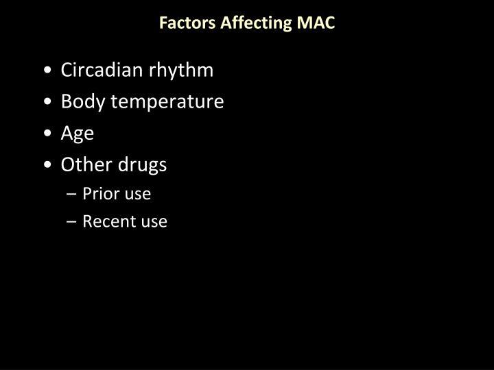 Factors Affecting MAC