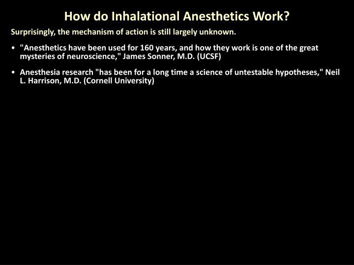 How do Inhalational Anesthetics Work?