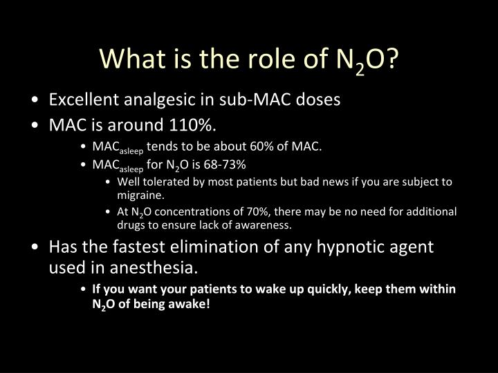 What is the role of N