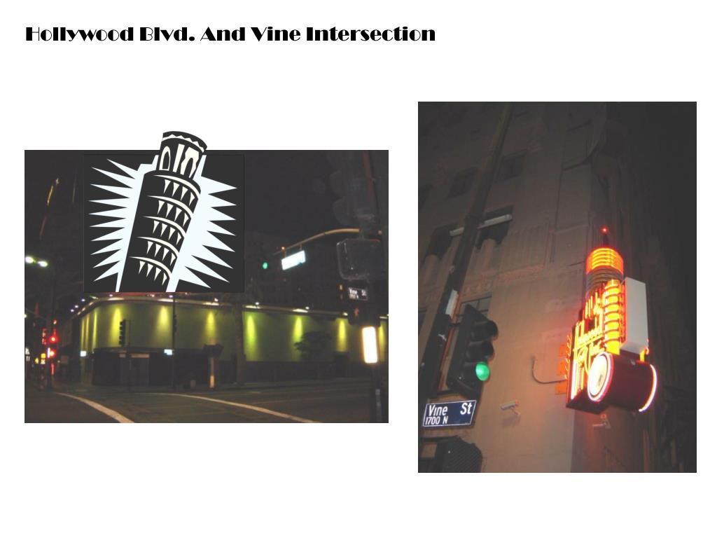 Hollywood Blvd. And Vine Intersection