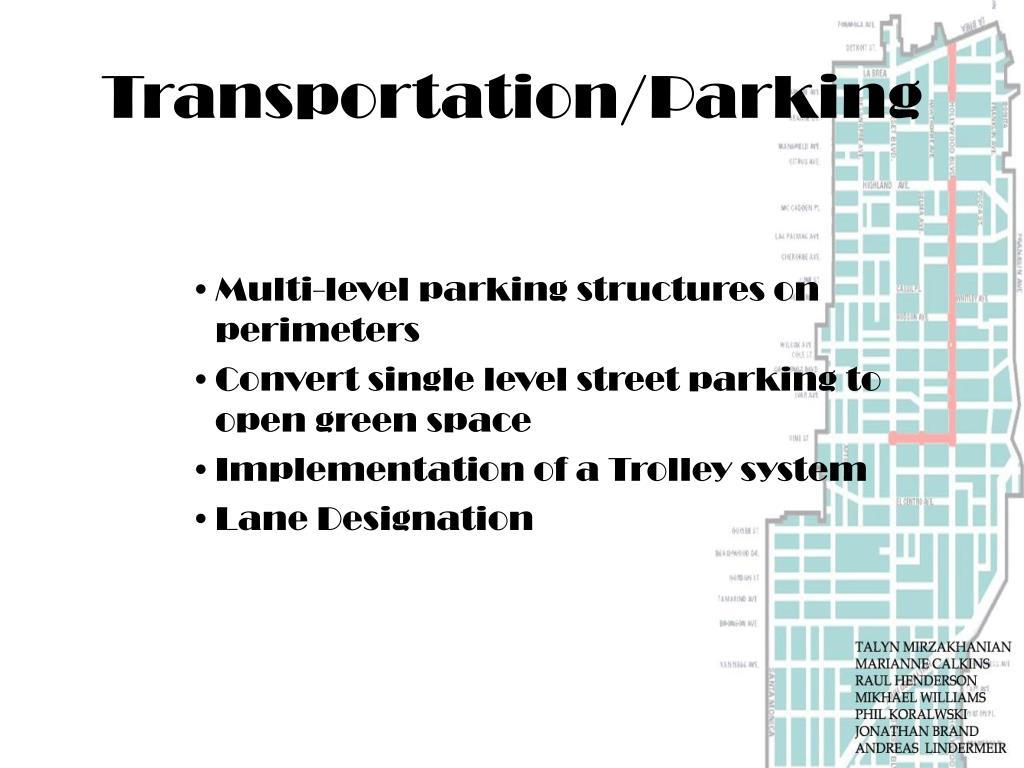 Transportation/Parking