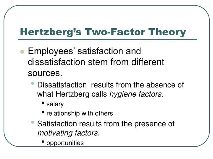 Hertzberg's Two-Factor Theory