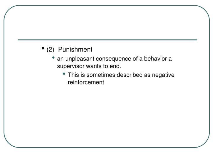 (2)  Punishment