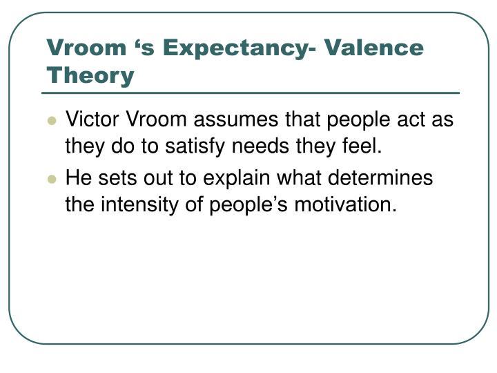 Vroom 's Expectancy- Valence Theory