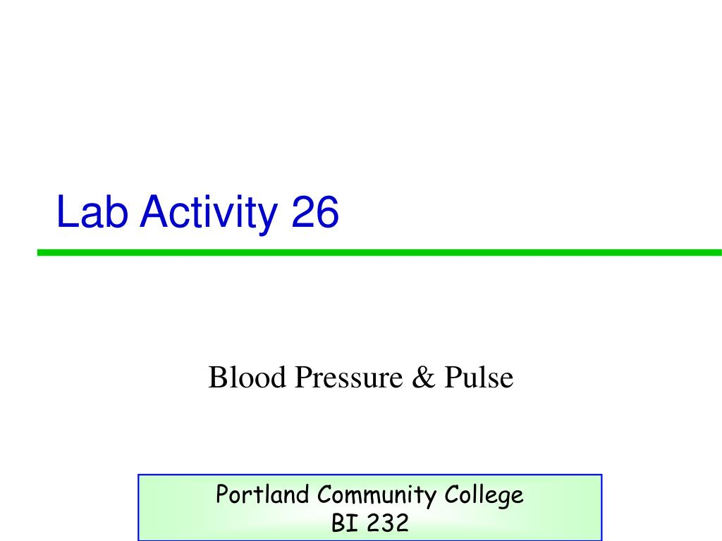 Lab Activity 26
