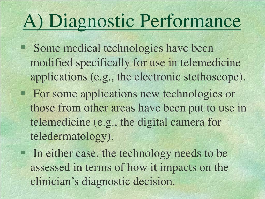 A) Diagnostic Performance