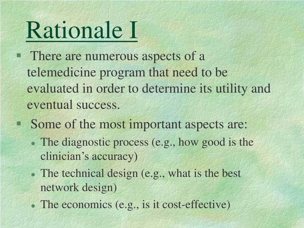 Rationale I